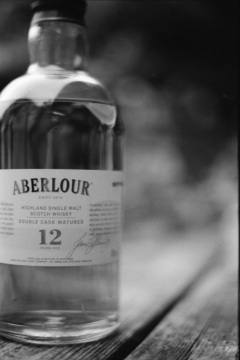 """Aberlour Single Malt Scotch Whisky"" - Nikon FE2, Rollei Infrared 400, Rodinal."