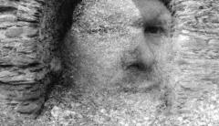 """Good & Gone: Celtic Iron, Double Exposed"" - Camera: Nikon F100, set to double exposure. Film: Foma Retropan 320."